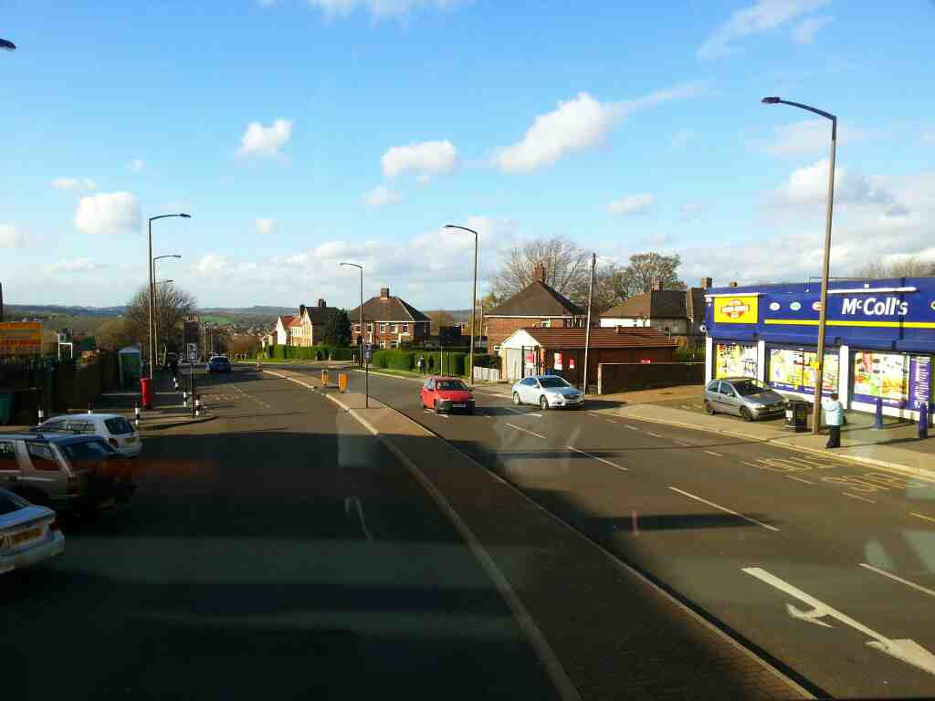Sheffield Lane Top Barnsley Rd on a 265 bus