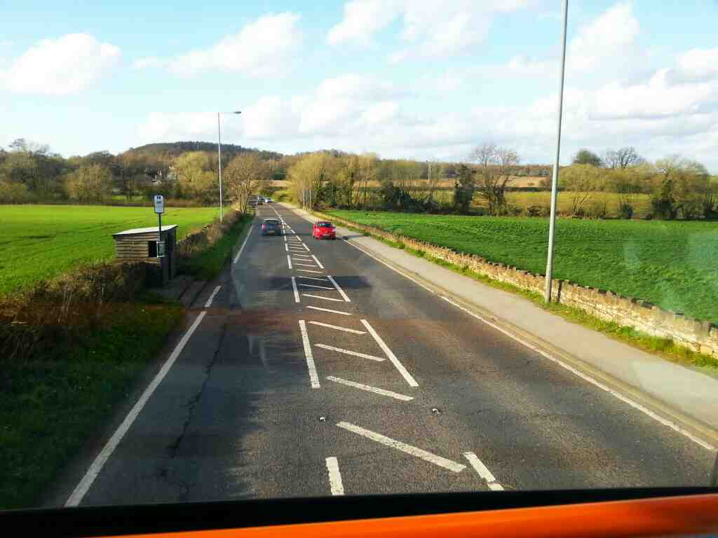 The A6135 heading in the direction of Hoyland on a Stagecoach 265 bus