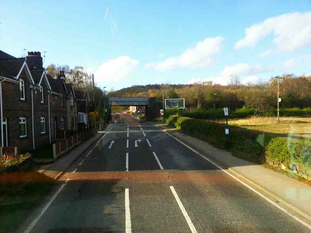 Junction of Broadcarr Road and the A6135 Hoyland off a 265 bus