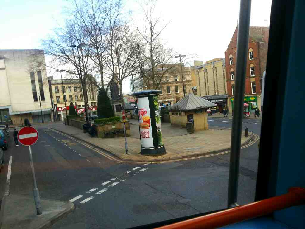 Fitzalan Square Sheffield off a 265 bus
