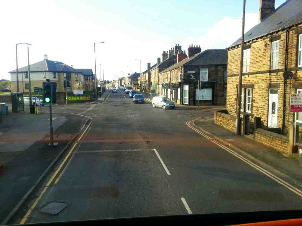 Junction of Tankersley Lane Hoyland Rd and Sheffield Rd Hoyland on a 265 bus