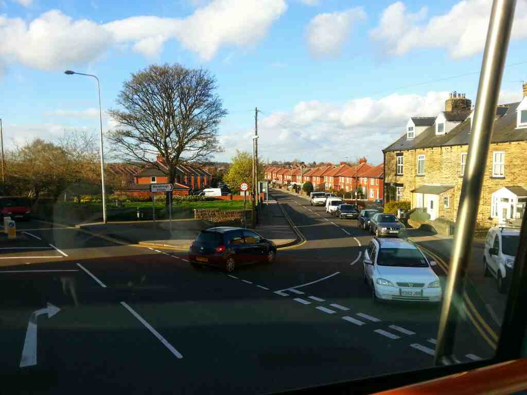 Junction of Sheffield Rd the A61 and Worsbrough Rd Birdwell on a 265 bus