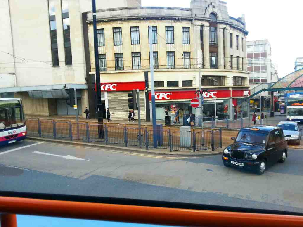 Passes Kentucky Fried Chicken High St Sheffield off a 265 bus