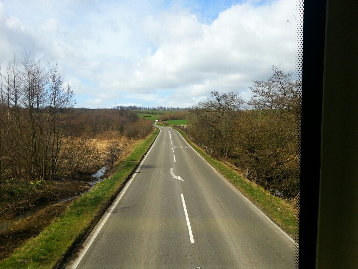 Approaching Bakewell bends.
