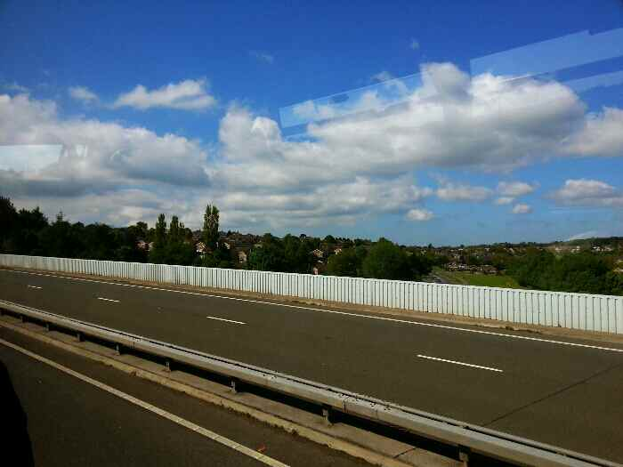 Crossing the Gosforth Valley Viaduct
