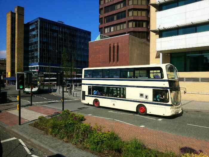 First bus painted in old Sheffield Corporation Livery