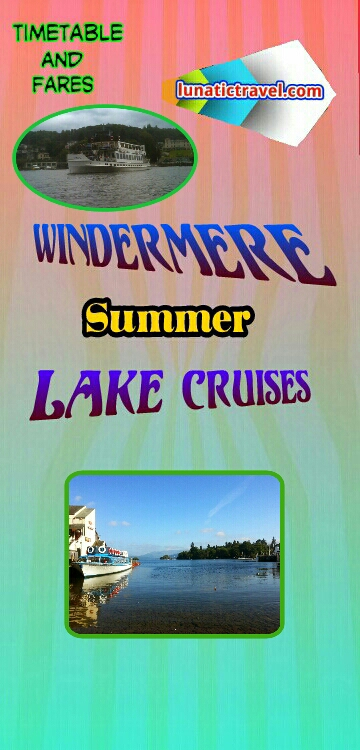 Download the Windermere Lake Cruise timetable boat times fare guide