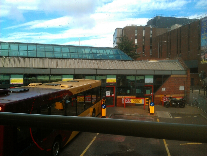 Backing off the stand at Leeds city bus station