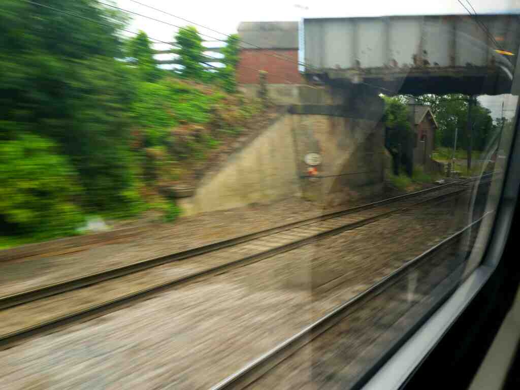 Passing the Former Tollerton station on a London to Edinburgh train