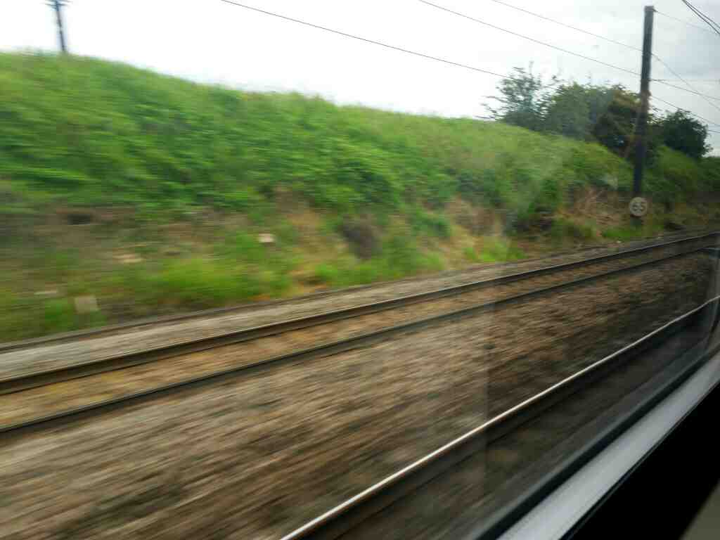 Approaching Thirsk on at Speed on an London to Edinburgh express