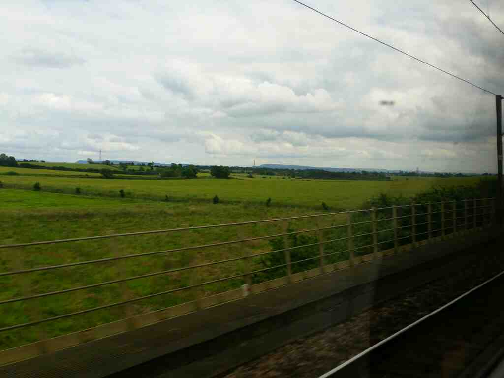 Scenery between Northallerton and Darlington off a East Coast train