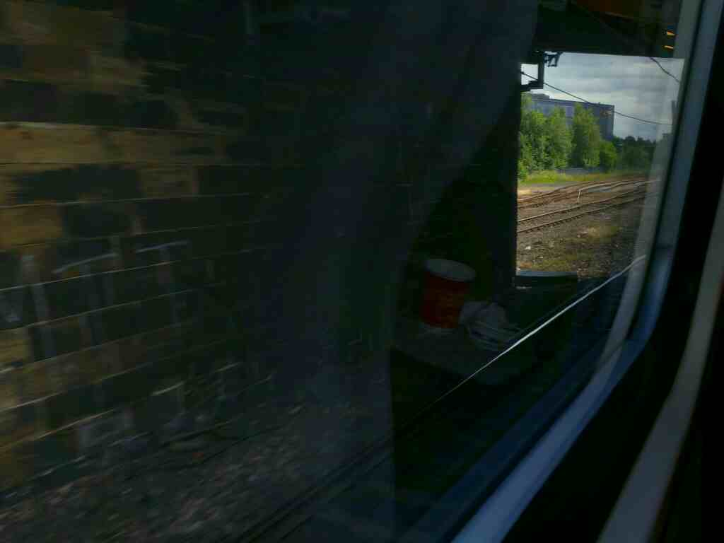 Passing under Haughton Rd north of Darlington station on an East Coast Train