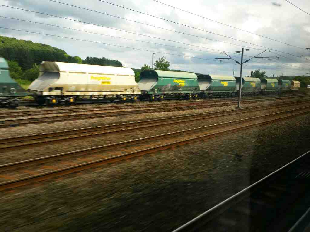 Passing Ferryhill County Durham on an East Coast Train