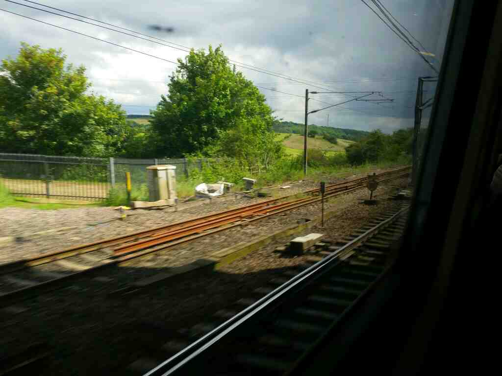 The Northern end of Ferryhill County Durham on the East Coast Mainline