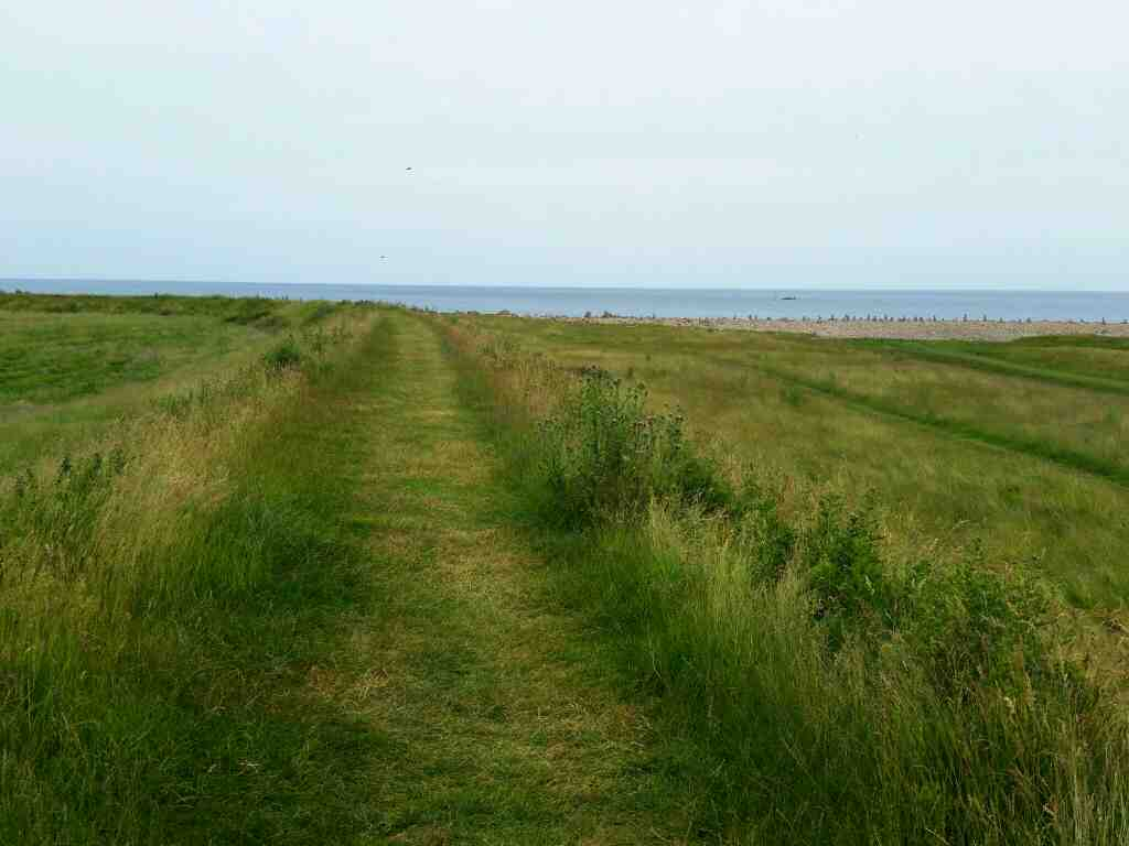 Wagonway to limestone quarries Lindisfarne Castle Holy Island Northumberland
