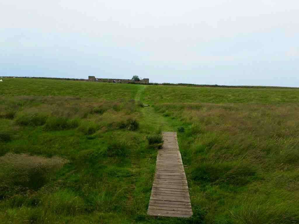 Path to the Garden Lindisfarne Castle Holy Island Northumberland