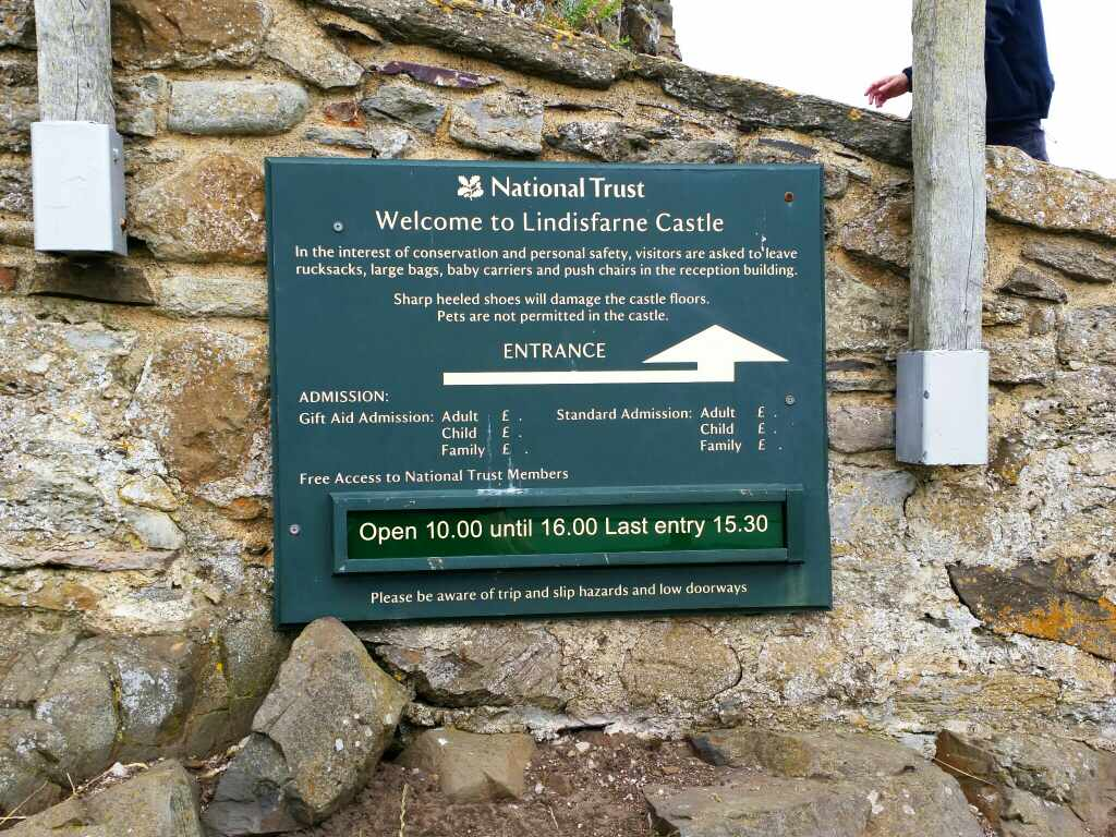 Information for Lindisfarne Castle Holy Island Northumberland