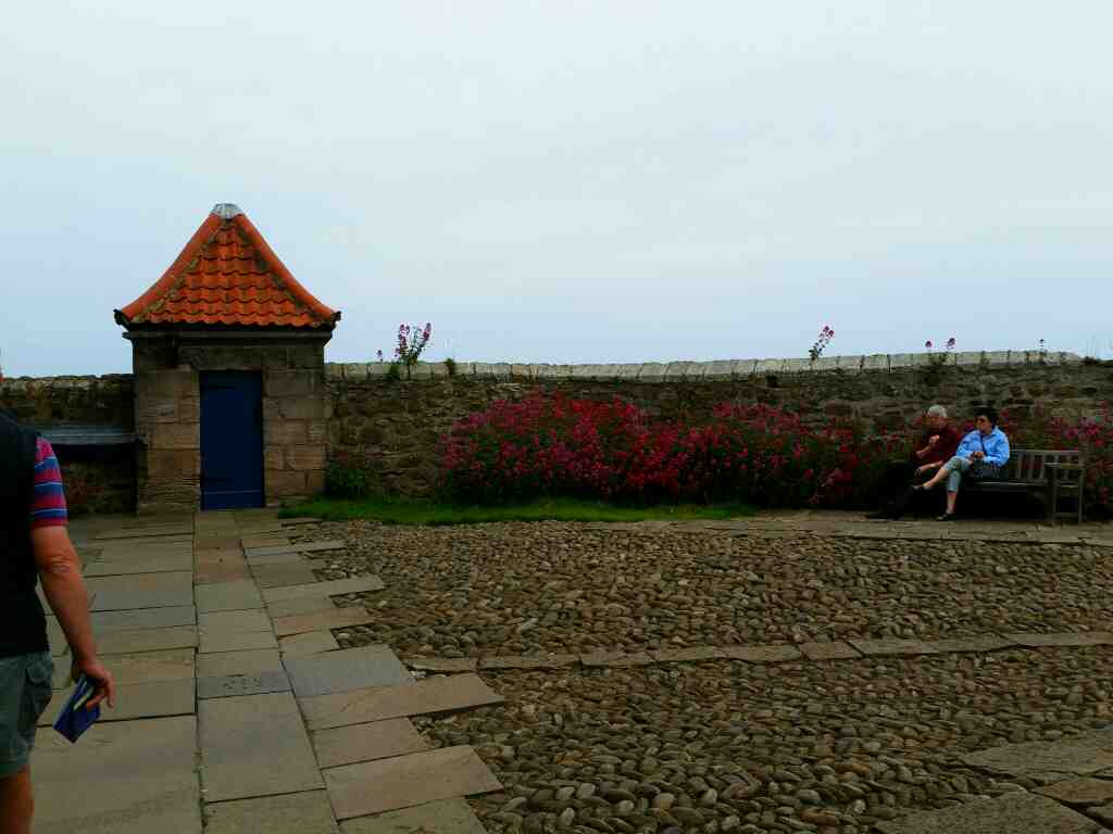 The lower Battery Lindisfarne Castle Holy Island Northumberland