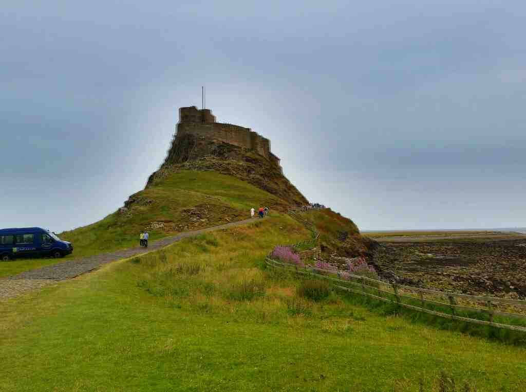 The path to Lindisfarne Castle Holy Island Northumberland