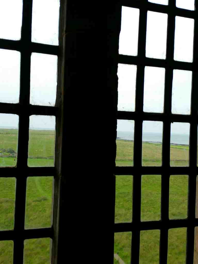 View out to sea from the Ship Room Lindisfarne Castle Holy Island Northumberland