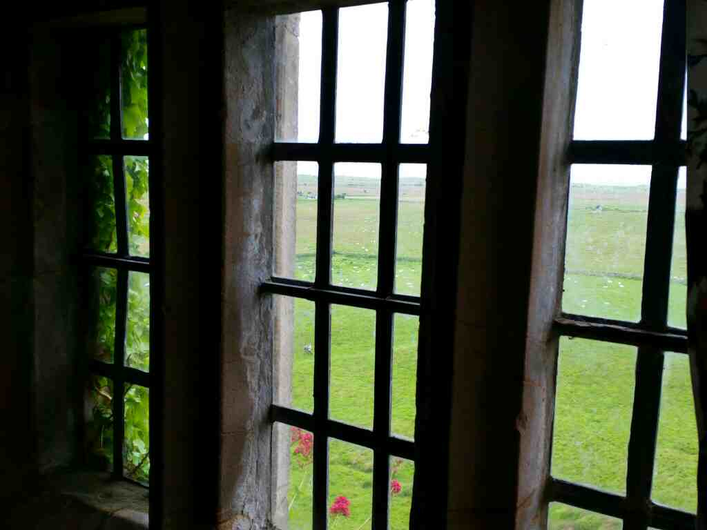 A bedroom with a view Lindisfarne Castle Holy Island Northumberland