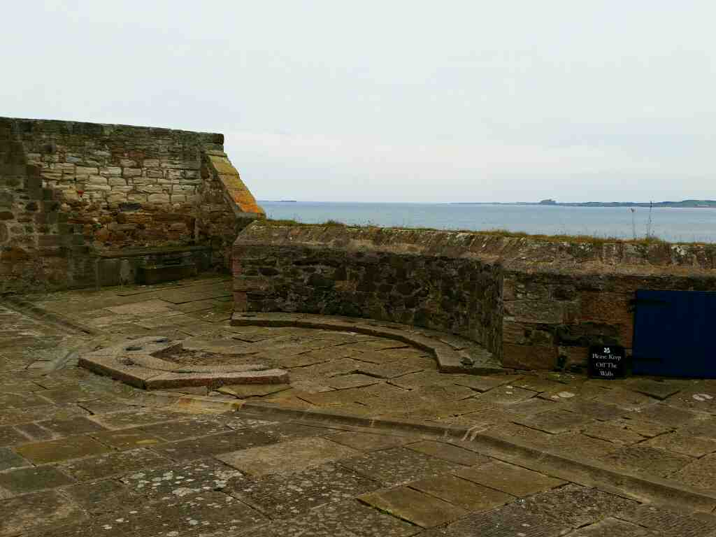 The upper Battery Lindisfarne Castle Holy Island Northumberland