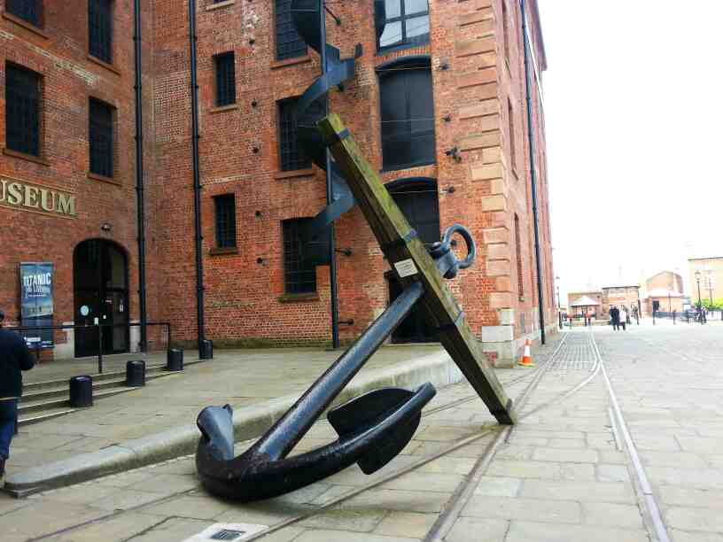 An Anchor outside the Maritime Museum Liverpool the Albert Dock