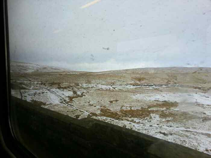 Crossing the Ribblehead Viaduct.