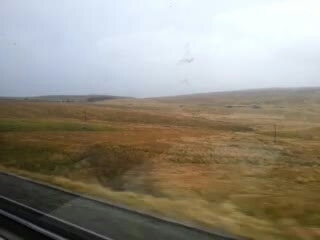 Moorland off a train